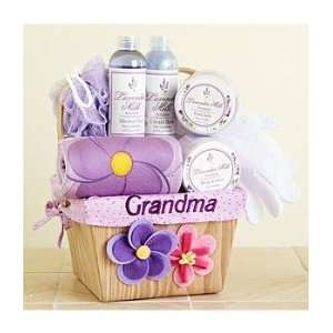 Personalized Mothers Day Square Spa Baskets  Grocery