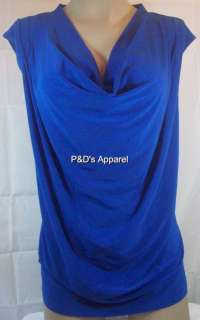 New Carol Rose Womens Plus Size Clothing Blue Tank Top Shirt Top