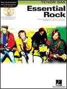ESSENTIAL ROCK TENOR SAX   SHEET MUSIC SONG BOOK/CD