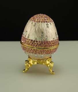 Easter Bunny Egg Retro Swaroski Crystal Jewellery Box