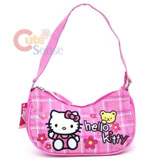 Sanrio Hello Kitty Hand Bag Mini Purse  Pink Flowers with Teddy Bear