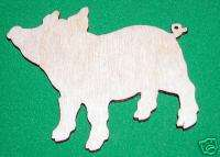 PIG PEN LaserWoody Unfinished Flat Wood Shapes 2PP771C
