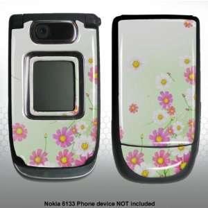 Nokia 6133 pink/white flowers Gel skin m5622 Everything