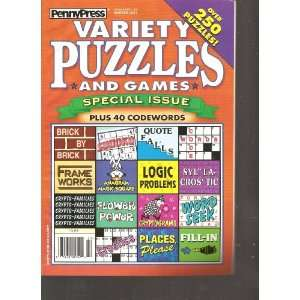 Penny Press Variety Puzzles and Games (Over 250 Puzzles, Winter 2011