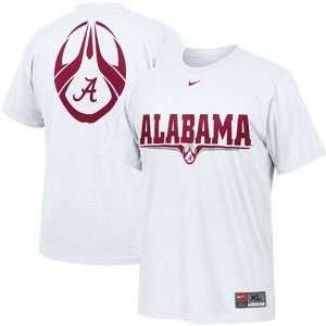 Nike Alabama Crimson Tide White Team Issue T shirt Sports