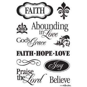 Faith, Hope & Love   Clear Stamps Arts, Crafts & Sewing