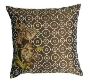 NEW $59 Pier 1 Embroidered Pillow Throw Cushion Cover