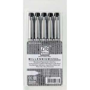 Zig Millenium 5pc Technical Drawing Fine Line Pen Set