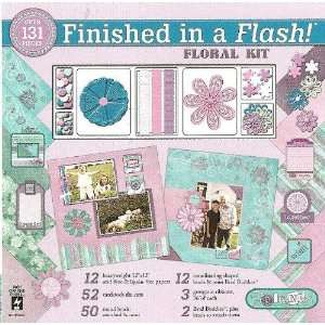 Finished In A Flash Page Kit 12X12 Floral Arts, Crafts
