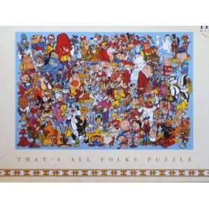 Thats All Folks 1100 Piece Looney Tunes Puzzle Toys & Games