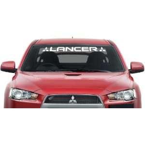 Mitsubishi Lancer Windshield Banner Decal Logo 36x3