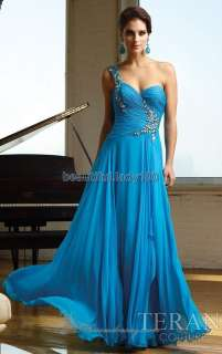 One shoulder Beaded Evening Dresses Long Formal Prom Party Gown