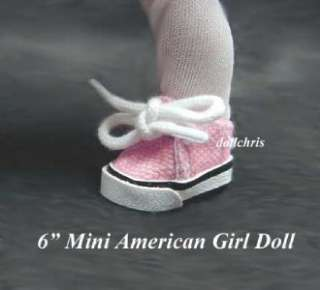 Tennis Shoes for 6Mini American Girl Doll Julie Riley PINK Sneakers