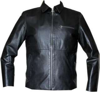 Dolce & Gabbana Mens Designer Black Leather Bomber Biker Jacket Medium
