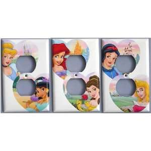 Jasmine Ariel Aurora Belle Snow White Castles Switch Plate Switchplate