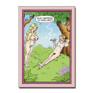Leaf   Humorous Cartoon Valentines Day Greeting Card