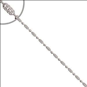 14k White Gold, Pallini Bead Chain Necklace 2mm Wide