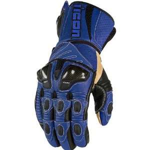 Icon Overlord Long Mens Leather On Road Motorcycle Gloves