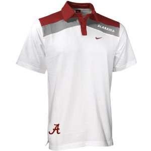 Nike Alabama Crimson Tide White College Stripe Polo