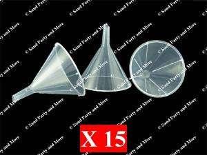 15 Plastic All Purpose Funnels For Sand Art Bottles