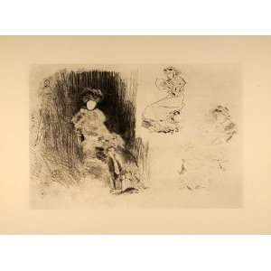 1914 James McNeill Whistler Women Reading Lithograph