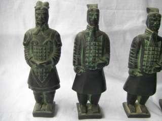 Chinese Vintage Antique Bronze Terra Cotta Warriors Collection