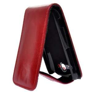 Flip Leather Case Pouch Cover with Magnet Snap for HTC Wildfire S G13