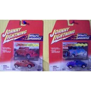 Johnny Lightning Part of the Willys Gassers collection) Hills Bros Red
