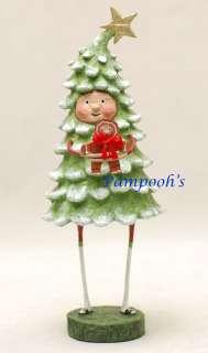 Lori Mitchell Bruce Spruce Christmas Tree Folk Art Figurine