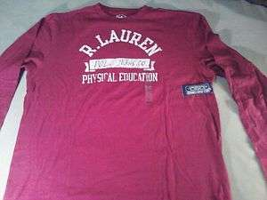 Polo Ralph Lauren Red Long Sleeve T Shirt NWT Size L, XL, XXL
