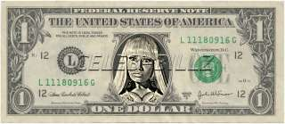 Nicki Minaj Dollar Bill Real Currency! Celebrity Novelty Collectible