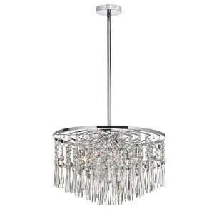 PC Josephine 8 Light Clear Crystal Pendant in Polis