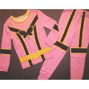 PINK POWER RANGERS long PJ PALS costume DISNEY size 8