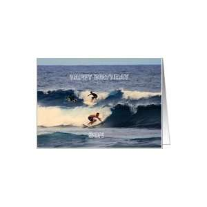 Happy Birthday Son Hawaiian Surfers Card: Toys & Games