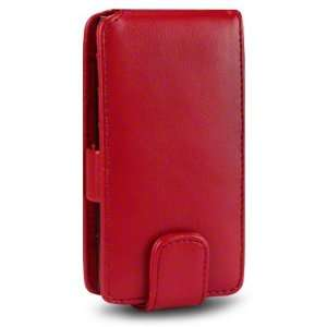 NOKIA N9 PU LEATHER FLIP CASE   RED, WITH QUBITS BRANDED