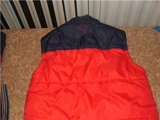 NWOT BOYS PUMA RED NAVY INSULATED VEST SLEEVELESS SZ XL