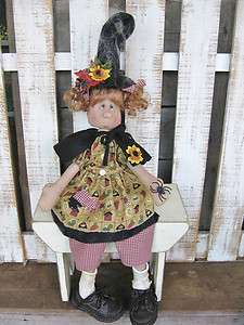 Primitive Halloween Gangly Gretta Witch doll Paper Pattern