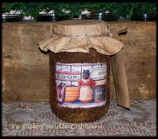 Primitive Grungy Pantry Jar Candle 16 oz ~ Olde Mammy ~