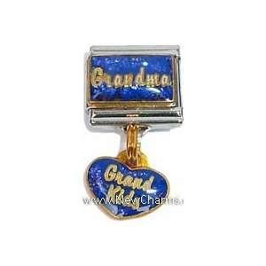 Dangling On Blue Heart Italian Charm Bracelet Jewelry Link Jewelry