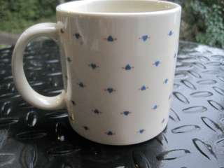Taylor & Ng Mug Cup Vintage 1982 Blue Heart & Arrow Valentines Day