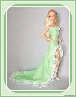 Handmade FASHION 4 MODEL MUSE BARBIE BASICS DOLL GOWN JEWELRY CUSTOM