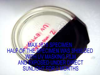 brand epoxy resin after equal direct sunlight exposure of 2 months