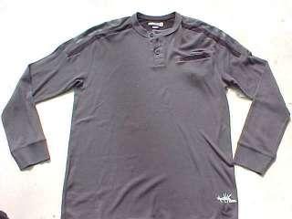 ECKO UNLTD Gray Alpha Henley Thermal Shirt sz XL NWT $29.50
