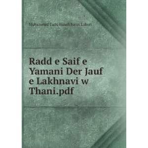 Jauf e Lakhnavi w Thani.pdf Muhammad Tariq Hanafi Sunni Lahori Books