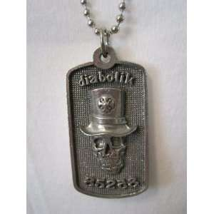 DIABOLIK 85258 Top Hat Skull Dog Tag Necklace   Dawgs/Hawgs: Jewelry