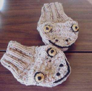 Knitting Pattern For Puppet Mittens : Critter Mitts Hand Knit Childrens Animal Puppet Mittens ...