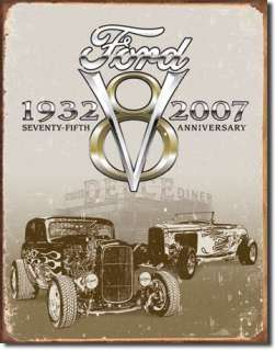 1932 FORD Deuce Coupe Hothod V8 Roadster Tin Sign