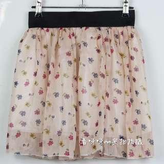 Retro Fresh Sweet Saika Pleated Chiffon Short Dress Mini skirts