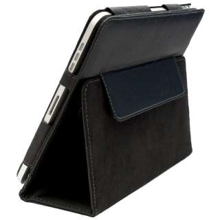 FAST SHIPPING DSI IPAD 1 FAUX BLACK LEATHER STAND CASE COVER COVER