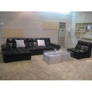 Vig Furniture Bo3935B Modern Leather Sectional Sofa: Home